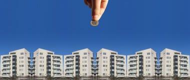 Investissez en immeubles Photographie stock