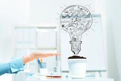 Investissez et élevez votre revenu Image stock