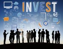 Investissez le concept de revenu d'actifs bancaires de finances d'investissement photo stock