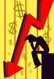 Investissez sagement et combattez la récession Photo stock
