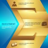 Investition-Broschüre-Schablone-Geschäft-Art-Darstellung Stockbild