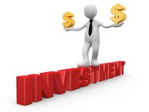 Investition in den Dollar stock abbildung
