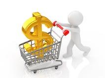 Investition im Dollar Lizenzfreie Stockfotos
