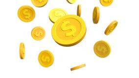Investition, moderner Münzendollar stock footage