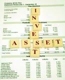 Investitions-Anlagegüter im Ruhestand-Plan Lizenzfreie Stockbilder