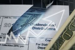 Investitions-Auszahlungs-Dividenden-hohe Qualität stockfotografie