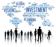 Investitions-globales Geschäftsgewinn-Bankwesen-Budget-Konzept Lizenzfreie Stockfotos