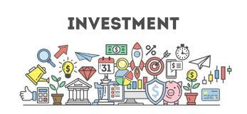 Investitions-Ikonen eingestellt lizenzfreie abbildung