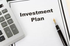 Investitions-Plan Lizenzfreies Stockbild