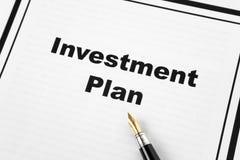 Investitions-Plan Lizenzfreie Stockbilder