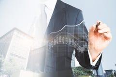 Investitions- und Handelskonzept Stockbild