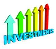 Investitions-zunehmende Durchschnitte Finanzbericht und Dokument Lizenzfreie Stockbilder