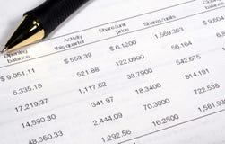 Investitions-Zusammenfassung Lizenzfreies Stockfoto