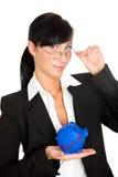 Investitionsdiagrammfrau Lizenzfreies Stockfoto