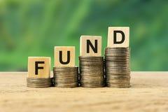 Investitionskonzept in den langfristigen Kapitalien stockfoto