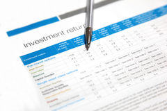 Investitionsrückkehr Stockfotos