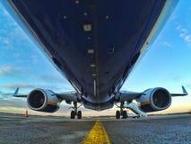 Investito in aereo Immagini Stock Libere da Diritti