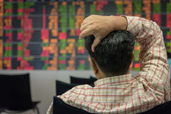 Investitore e mercato azionario fotografia stock