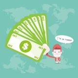 Investitore e soldi illustrazione vettoriale