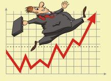Investitore fortunato del mercato azionario Immagine Stock Libera da Diritti