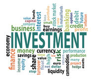 Investmenmarkeringen Stock Foto's