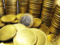Investment 1 Euro stock images