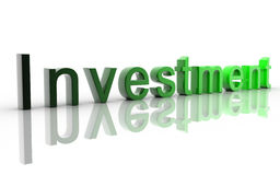 Investment. Digital illustration of investment in 3d on white background stock illustration
