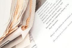Investment. Newspaper and investment, shallow dof royalty free stock images