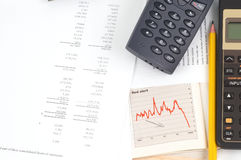 Investment. Stock market plan Stock Photos