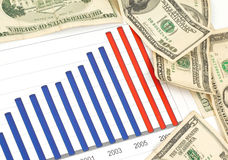 Investment. Business decision with chart Stock Photo