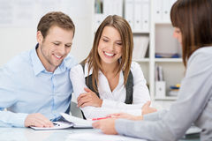Investment adviser giving a presentation Stock Images