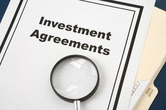 Investment Agreement Royalty Free Stock Image