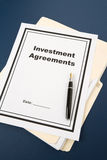 Investment Agreement. And pen, business concept Royalty Free Stock Photography