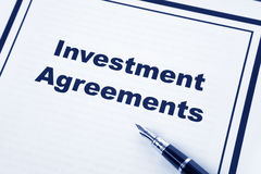 Investment Agreement Stock Photo