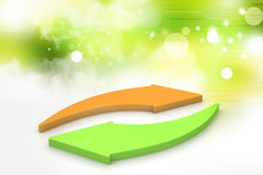 Investment arrows cycle Royalty Free Stock Images