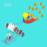 Investment attraction flat isometric vector. Stock Photos