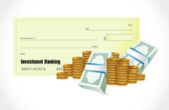Investment Banking check and money Royalty Free Stock Photography