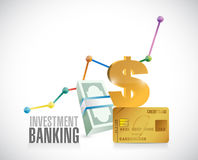 Investment Banking financial graphics Royalty Free Stock Photography