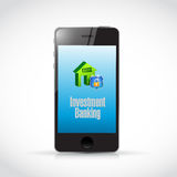Investment Banking mobile illustration Royalty Free Stock Photos