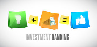 Investment Banking post it set illustration Stock Image