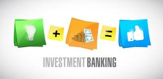 Investment Banking post it set illustration. Design graphic Stock Image
