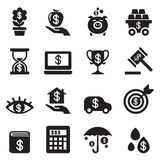 Investment, Bonus, Financial business icon set. Vector illustration Graphic Design Symbol Stock Image