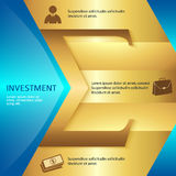 Investment-brochure-template-business-style-presentation Stock Image