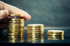 Investment in business finance. Investment in business finance, Concept money for the future Stock Photos