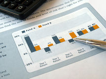 Investment chart Royalty Free Stock Photography