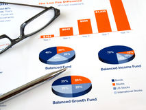 Investment chart Stock Photos