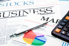 Investment chart Royalty Free Stock Photos