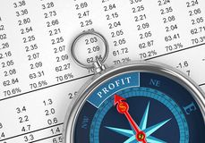 Investment Compass Stock Photography