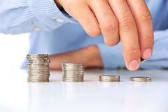 Investment concept. Hand put coin to stack, investment concept Stock Images
