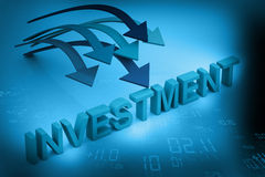 Investment concept. On abstract background Royalty Free Stock Photo